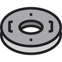 security, help, lifeguard, lifebuoy, Floating, Lifesaver DarkGray icon