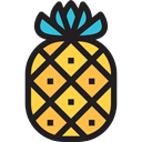 food, Fruit, organic, fruits, natural, Foods, pineapples, pineapple, Healthy Food, Food And Restaurant Black icon