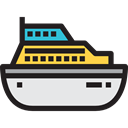 transportation, Boat, Ships, transport, ship, Cruise, Yacht Black icon