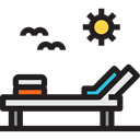 sun, Rest, Resort, Holidays, relax, Sun Bath Black icon