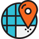 Map, Orientation, interface, location, position, Geography, Maps And Flags, Maps And Location MediumTurquoise icon