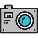 picture, interface, digital, technology, electronics, photograph, photo camera Silver icon