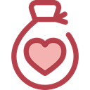 miscellaneous, Money, donation, money bag, Heart, Solidarity, Charity, Business And Finance Sienna icon