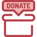 commerce, donate, donation, Charity, help, Box, miscellaneous, Money Sienna icon