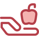vegetarian, vegan, Healthy Food, Food And Restaurant, Apple, food, Fruit, organic, diet Sienna icon