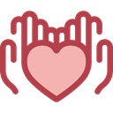 Heart, miscellaneous, Hands, donation, Solidarity, Charity, Hands And Gestures Sienna icon