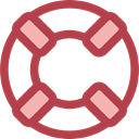 security, help, lifeguard, lifebuoy, Floating, Lifesaver Sienna icon