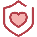 Antivirus, shield, defense, secure, security Sienna icon