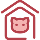 miscellaneous, Animals, kennel, Doghouse, Pet House, Dog House, Furniture And Household Sienna icon