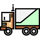 Delivery, transportation, truck, transport, vehicle, Automobile, Delivery Truck, Cargo Truck, Shipping And Delivery Black icon