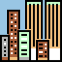 urban, Skyscrapers, Cityscape, Architecture And City, city, town, buildings, Architecture BurlyWood icon