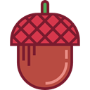 food, Acorn, organic, vegetarian, vegan, Healthy Food, Food And Restaurant Brown icon