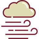 Bad Weather, weather, wind, windy, meteorology PaleGoldenrod icon