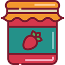 Jar, food, strawberry, breakfast, jam, Conserve, Food And Restaurant Brown icon