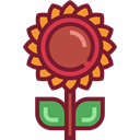 Flower, nature, sunflower, petals, blossom, Botanical Brown icon