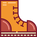 Boot, Clothes, Climbing, fashion, footwear Goldenrod icon