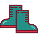 rainy, fashion, footwear, raining, Boot, Rain Boots DarkCyan icon
