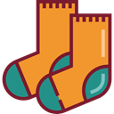 Clothes, clothing, socks, fashion, Garment Goldenrod icon
