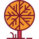Tree, fall, nature, season, autumn Brown icon