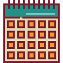 Organization, Calendars, Time And Date, Calendar, time, date, Schedule, interface, Administration Brown icon