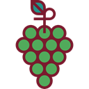 food, Fruit, fruits, Berries, grape, Berry, Grapes, Bouquet, Food And Restaurant Black icon