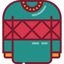 Jersey, Clothes, clothing, fashion, sweater, Pullover, Garment DarkCyan icon