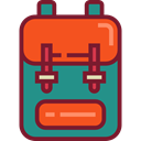 travel, Backpack, luggage, baggage, Bags Brown icon