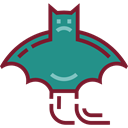 bat, zoo, Animals, Wild Life, Animal Kingdom DarkCyan icon
