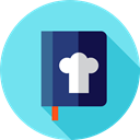 Recipe, Cooking, recipes, Food And Restaurant, Furniture And Household, food, Cook, kitchen, Ingredient, Book SkyBlue icon