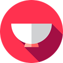 hot, food, Bowl, soup, kitchenware, Food And Restaurant Crimson icon
