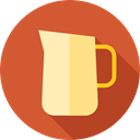 Jar, drink, food, water, drinks, beverage, Tools And Utensils, Food And Restaurant Chocolate icon