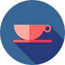 food, Cups, drinks, coffee cup, hot drink, Teacup, Food And Restaurant SteelBlue icon