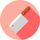 Kitchen Pack, Cleaver, Food And Restaurant, Furniture And Household, halloween, Knife, Butcher, meat, food LightPink icon