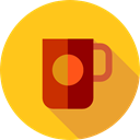 Coffee, food, Chocolate, mug, coffee cup, hot drink, Tea Cup, Food And Restaurant Gold icon
