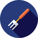 Fork, food, Restaurant, Cutlery, Tools And Utensils, Food And Restaurant DarkSlateBlue icon