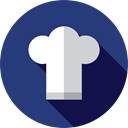 Kitchen Pack, Chef Hat, Food And Restaurant, Chef, Cooker, Cooking, fashion, hat, food, kitchen DarkSlateBlue icon