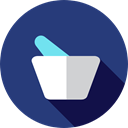 health, medical, education, medicine, chemical, Mortar, Pestle, Grinding, Healthcare And Medical DarkSlateBlue icon
