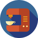 Food And Restaurant, Furniture And Household, hot drink, kitchenware, Coffee Maker, Coffee Shop, drink, technology SteelBlue icon