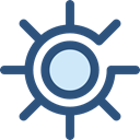 illumination, light, brightness, ui, star, sun, weather DarkSlateBlue icon