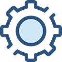 Gear, settings, configuration, ui, cogwheel, Tools And Utensils DarkSlateBlue icon
