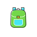 school, Bag Black icon
