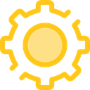 cogwheel, Tools And Utensils, Gear, settings, configuration, ui Gold icon