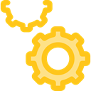 ui, cogwheel, Tools And Utensils, Gear, settings, configuration Gold icon