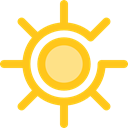 star, sun, weather, light, brightness, ui, illumination Gold icon
