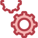 Gear, settings, configuration, ui, cogwheel, Tools And Utensils Sienna icon