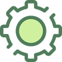 Gear, settings, configuration, ui, cogwheel, Tools And Utensils DimGray icon