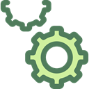 cogwheel, Tools And Utensils, Gear, settings, configuration, ui DimGray icon