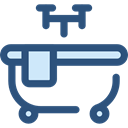 washing, hygiene, Bathtub, Hygienic, Clean, Bath, bathroom DarkSlateBlue icon