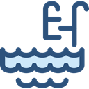 water, Ladder, Swimming Pool, Summertime DarkSlateBlue icon