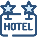 Rest, Hostel, signs, sign, hotel DarkSlateBlue icon